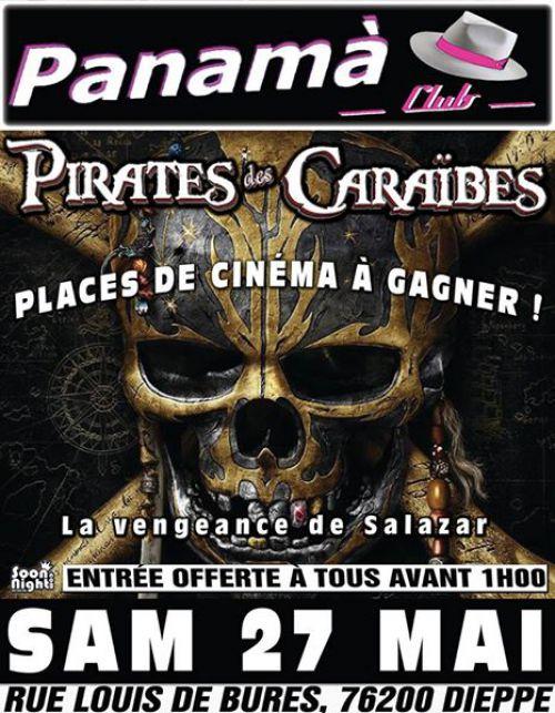 Soirée clubbing LA NUIT PIRATES DES CARAÏBES  Samedi 27 mai 2017