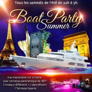 Soirée clubbing PARIS BOAT SUMMER PARTY (FILLE > GRATUIT, 2 AMBIANCES CLUB, TERRASSE, MOJITOS...) Samedi 29 juillet 2017