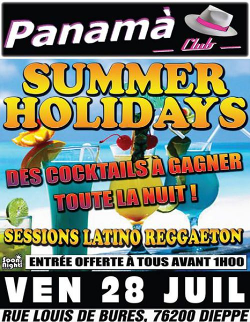 Soirée clubbing SUMMER HOLIDAYS Vendredi 28 juillet 2017