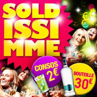 Soirée clubbing SOLDISSIMME : La soirée à prix Solde [ Consos 2€ ] Vendredi 19 janvier 2018
