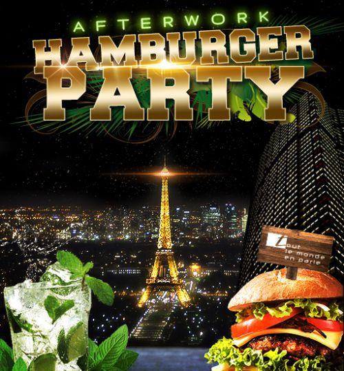 After Work AFTERWORK HAMBURGER PARTY SUR LES TOITS DE PARIS (CLUB INTERIEUR + TERRASSE CHAUFFEE) Vendredi 19 janvier 2018
