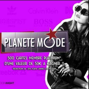 Soirée clubbing Planète Mode Vendredi 23 mars 2018