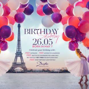 Soirée clubbing Birthday Saturday Samedi 26 mai 2018