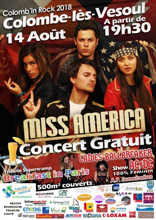 Concert Colomb'In Rock 2018 Mardi 14 aout 2018