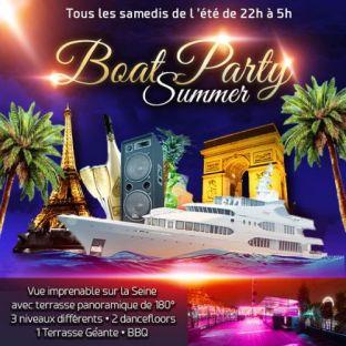 Soirée clubbing PARIS BOAT SUMMER PARTY (FILLES : GRATUIT, 2 AMBIANCES CLUB, TERRASSE GÉANTE PANORAMIQUE Samedi 30 juin 2018