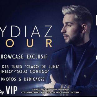 Soirée clubbing TYDIAZ en Showcase Samedi 20 octobre 2018