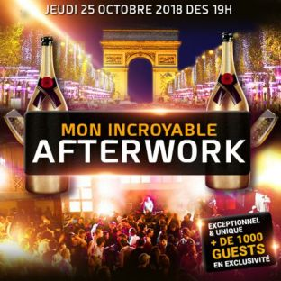 After Work MON INCROYABLE AFTERWORK EXCEPTIONNEL & EXCLUSIF @ THE KEY CLUB PARIS Jeudi 25 octobre 2018