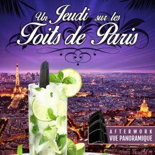 After Work JEUDI SUR LES TOITS DE PARIS (CLUB INTERIEUR + TERRASSE CHAUFFEE) Jeudi 28 mars 2019