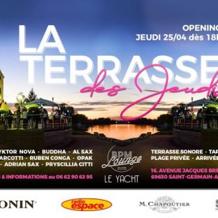 After Work Opening La Terrasse des Jeudis  Jeudi 25 avril 2019