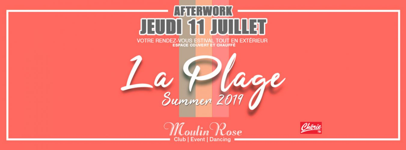 After Work la plage summer 2019 Jeudi 20 juin 2019