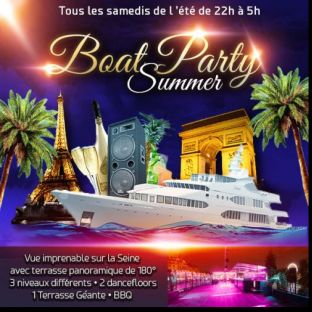 Soirée clubbing PARIS BOAT SUMMER PARTY ( FILLES > GRATUIT, 2 AMBIANCES CLUB, TERRASSE GÉANTE PANORAMIQUE) Samedi 27 juillet 2019