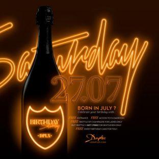 Soirée clubbing BIRTHDAY SATURDAY  Samedi 27 juillet 2019