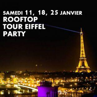 Soirée clubbing ROOFTOP TOUR EIFFEL PARTY (GRATUIT avec INVITATION à TELECHARGER) Samedi 25 janvier 2020