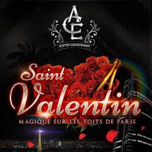 Soirée clubbing SAINT VALENTIN MAGIQUE SUR LES TOITS DE PARIS (DINER et SOIREE CLUBBING) FILLE = GRATUIT Vendredi 14 fevrier 2020