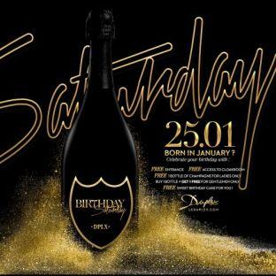 Soirée clubbing BIRTHDAY SATURDAY  Samedi 25 janvier 2020