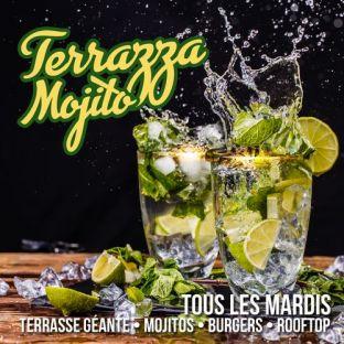 After Work LA TERRAZZA MOJITO SUR LES TOITS DE PARIS (TERRASSE GEANTE / ROOFTOP / MOJITOS / BURGERS / GRATUIT) Mardi 11 aout 2020