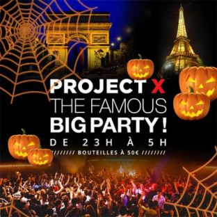 Soirée clubbing PROJET X HALLOWEEN : OPEN BAR ! ( 2 SALLES, 2 AMBIANCES ) Dimanche 31 octobre 2021