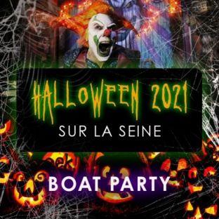 Soirée clubbing HALLOWEEN BOAT ROOFTOP PARTY HANTÉ GÉANTE SUR LA SEINELE FLOW ALEXANDRE III Dimanche 31 octobre 2021