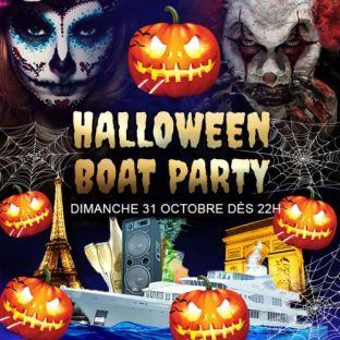 Soirée clubbing PARIS BOAT HALLOWEEN PARTY 2021 BATEAU CLUB + TERRASSE HANTÉ Dimanche 31 octobre 2021