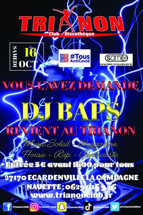 Soirée clubbing  DJ BAPS Samedi 16 octobre 2021