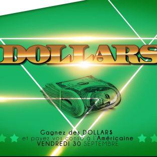Soirée clubbing Dollars Vendredi 30 septembre 2016
