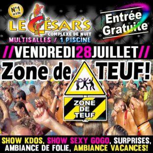 Soirée clubbing Zone de Teuff Vendredi 28 juillet 2017