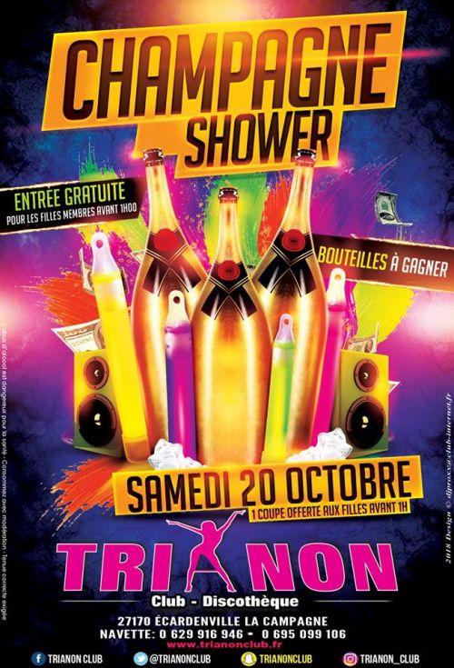 Soirée clubbing CHAMPAGNE SHOWER  Samedi 20 octobre 2018