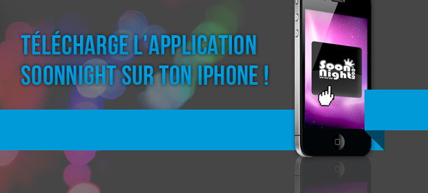 Application SoonNight sur Iphone