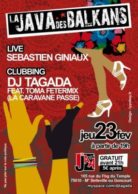 Java jeudi 23 fevrier  Paris