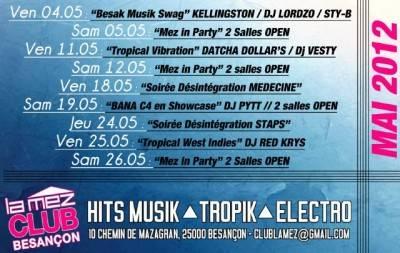 Mez Club 2.0 dimanche 06 mai  Besançon