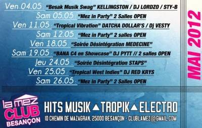 Mez Club 2.0 samedi 26 mai  Besançon