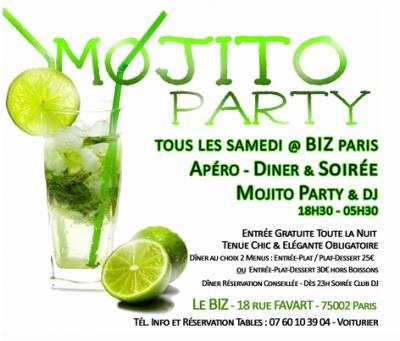 Biz samedi 19 mai  Paris