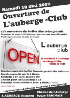 Auberge Club samedi 19 mai  Brignais