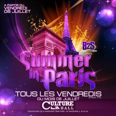 Culture Hall vendredi 13 juillet  Paris