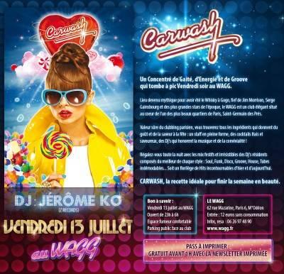 Jane Club vendredi 13 juillet  Paris