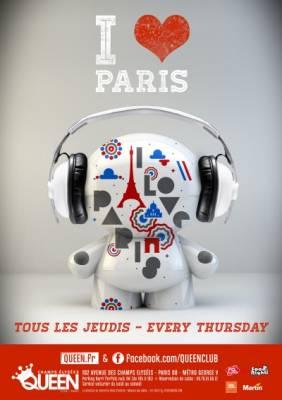 Queen Club jeudi 22 Novembre  Paris