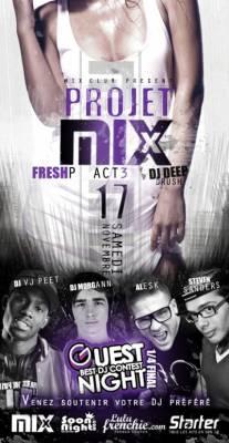 Mix Club samedi 17 Novembre  Paris