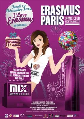 Mix Club jeudi 13 decembre  Paris