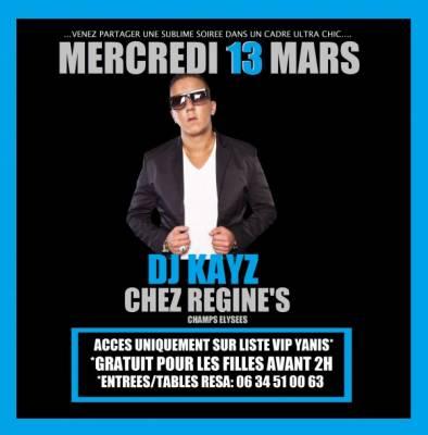 Chez R�gine mercredi 13 mars  Paris
