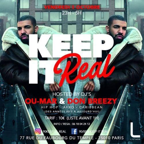 Keep It Real Vendredi 05 Octobre 2018 Soiree Au L Etage