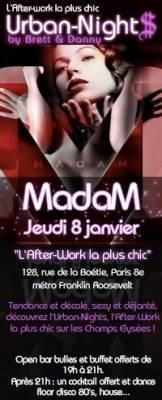 Madam jeudi 08 janvier  Paris