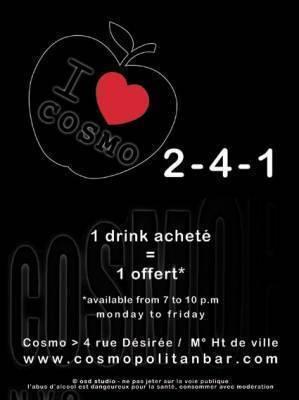 Cosmopolitan Bar jeudi 14 fevrier  Lyon