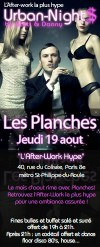 After Work AFTER-WORK @ LES PLANCHES Jeudi 19 aout 2010