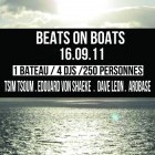 Soirée clubbing Beats on Boats by NIGHTOLOGIE Vendredi 16 septembre 2011
