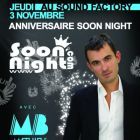 Soirée clubbing MATHIEU BOUTHIER for SOONNIGHT 6Th BIRTHDAY Party Jeudi 03 Nov 2011