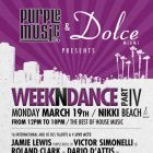 Clubbing WEEKNDANCE Part IV Lundi 19 mars 2012