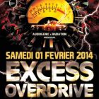 Concert EXCESS OVERDRIVE | LE CHABADA - ANGERS Samedi 01 fevrier 2014