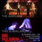 Concert 6h33 + The Airplane + This is Avalanche + DJ SET Samedi 15 fev 2014