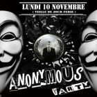 Soirée clubbing  ANONYMOUS PARTY LH Lundi 10 Novembre 2014