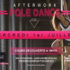 After Work Afterwork Pole dance by Upside Mercredi 01 juillet 2015